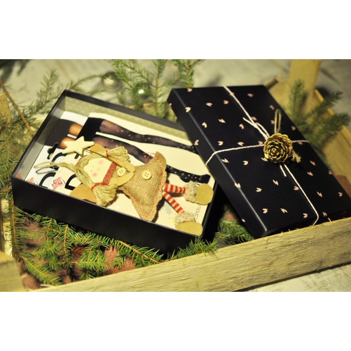 Подарочный набор с новогодними колготками Pretty Polly (Прити Полли) 2 шт