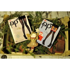 Подарочный набор с новогодними колготками Pretty Polly (Прити Полли) 2 шт 0114