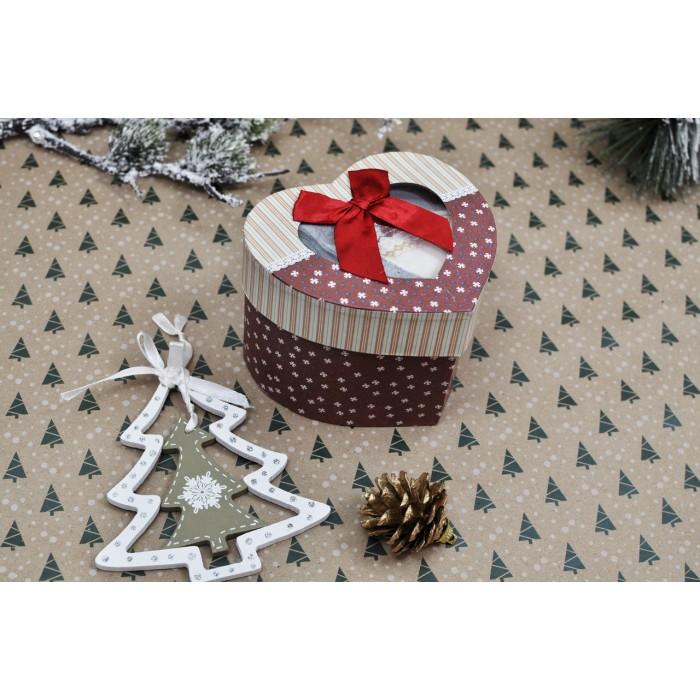 "Подарочный набор с новогодними носочками Pretty Polly (Прити Полли) 2 шт ""Сердце"""