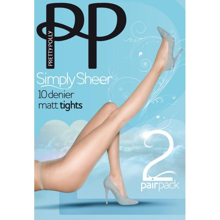 Колготки Pretty Polly (Прити Полли) 10 den EPA1 (2 пары в упаковке)