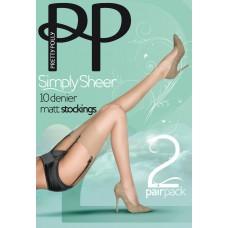 Чулки Pretty Polly (Прити Полли) 10 den EPA4 (2 пары в упаковке)