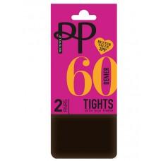 Колготки Pretty Polly (Прити Полли) 60 den ERM5 (2 пары в упаковке)