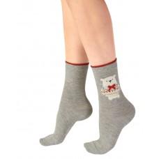 "Подарочный набор с новогодними носочками Pretty Polly (Прити Полли) 2 шт ""Сердце"" 0113"